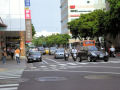 図3 三叉路(公園路)から青島西路をみる